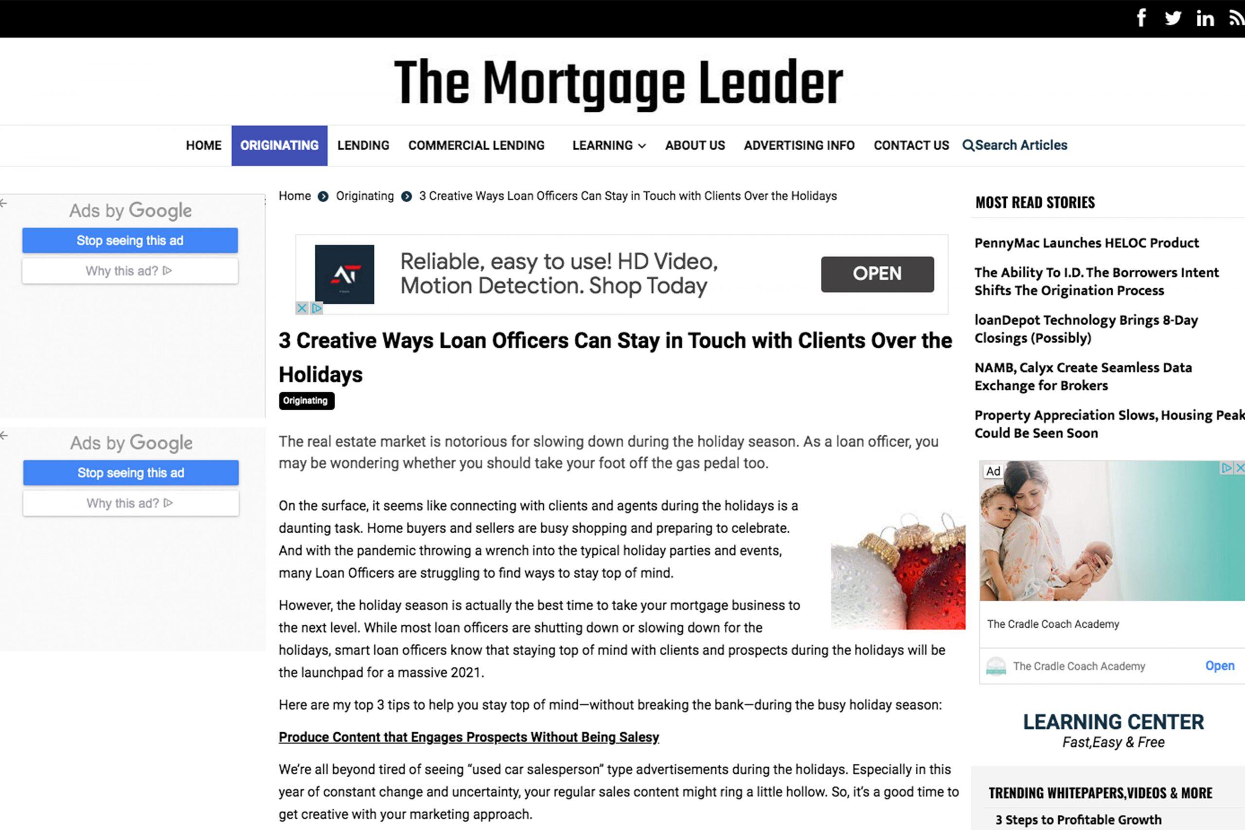 Mortgage Leader magazine