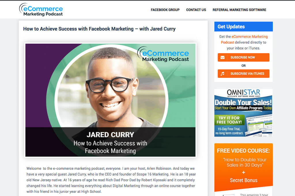 Ecommerece Marketing Podcast - Jared Curry