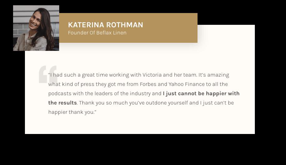 Katerina Rothman - Testimonial